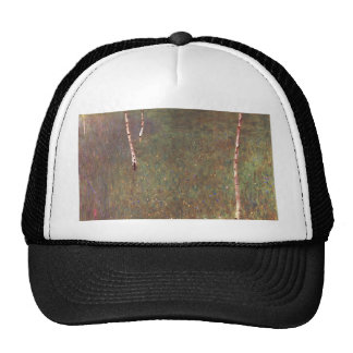 Farmhouses with Birch Trees Trucker Hat