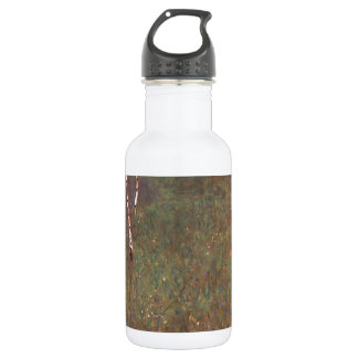 Farmhouses with Birch Trees Water Bottle