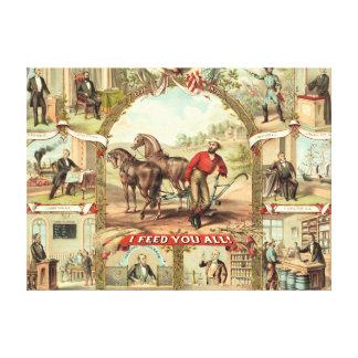 Farming 1875 canvas print
