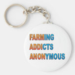 Farming Addicts Anonymous Basic Round Button Keychain