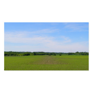 Farming blue skies green crops in field mn photo business card templates