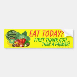 Farming bumper sticker fruit vegetables Thank