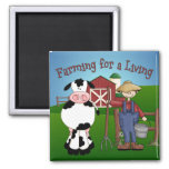 Farming Cartoon Magnet