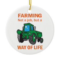 Farming Ceramic Ornament