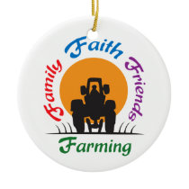 Farming Ceramic Ornament