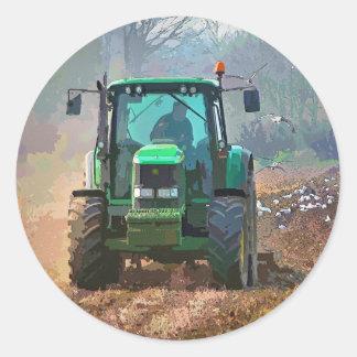 FARMING CLASSIC ROUND STICKER