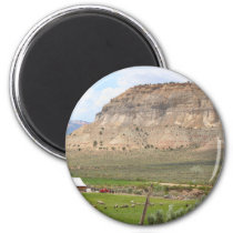 Farming country and hills, southern Utah Magnet