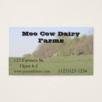"Farming Dairy Farm Business, 3.5"" x 2.0"", 100 pack Business Card"
