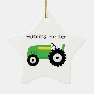 Farming For Life Ceramic Ornament