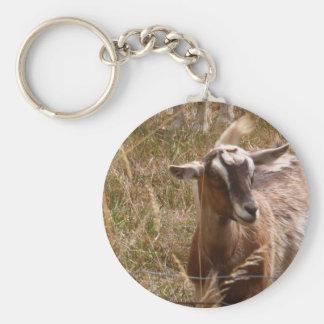 Farming goats keychain
