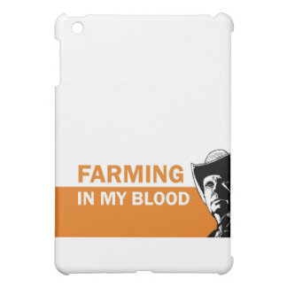Farming in my blood, gift for a farmer or rancher case for the iPad mini