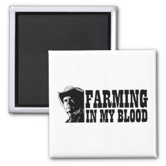 Farming in my blood, gift for a farmer or rancher fridge magnets