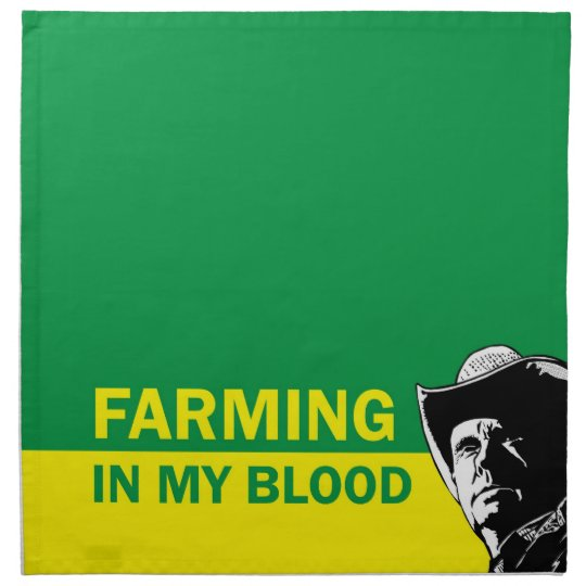 Farming in my blood, gift for a farmer or rancher napkin