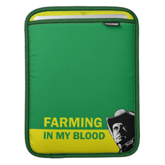 Farming in my blood, gift for a farmer or rancher sleeve for iPads