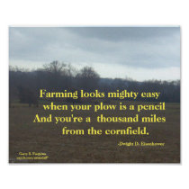 FARMING IS MIGHTY EASY EISENHOWER POSTER
