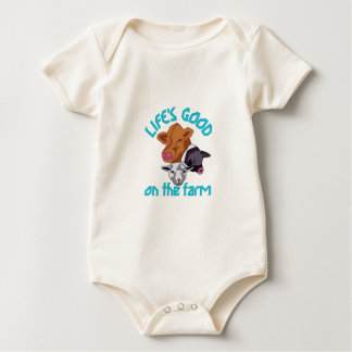 Farming Life is Good Baby Bodysuit