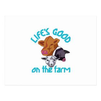 Farming Life is Good Postcard