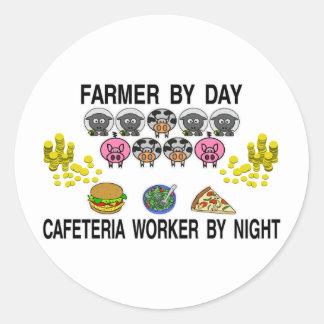 Farming My Cafe Classic Round Sticker