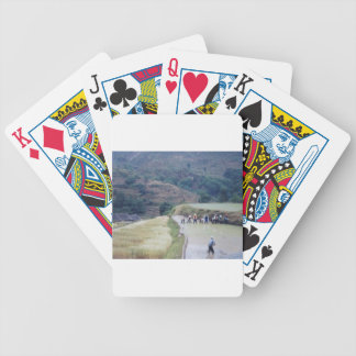 farming plain scenery  rice field planation bicycle playing cards