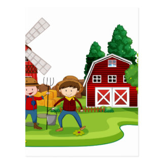 Farming Postcard