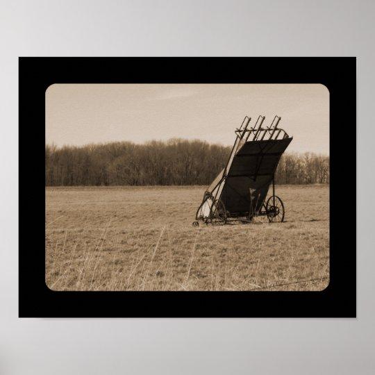 Farming - Sepia Series Poster