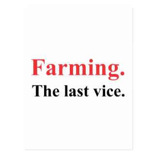 Farming the last vice version 2 postcard
