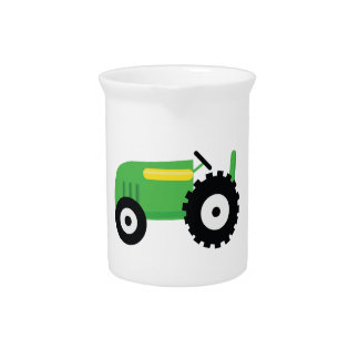 Farming Tractor Drink Pitcher