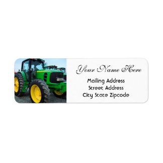 Farming Tractor Return Address Label