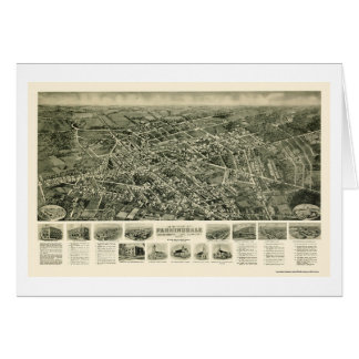 Farmingdale, mapa panorámico de NY - 1925 Tarjeta De Felicitación