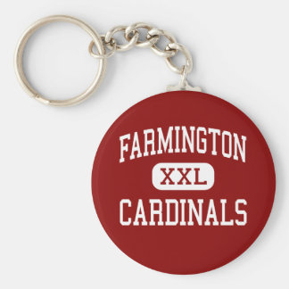 Farmington - cardenales - mayor - Farmington Llavero Redondo Tipo Pin