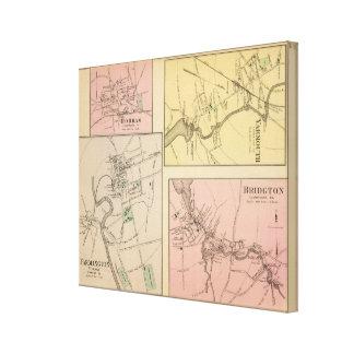Farmington, Gorham, Yarmouth, Bridgton Impresión En Lienzo Estirada