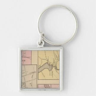 Farmington, Gorham, Yarmouth, Bridgton Map Keychain