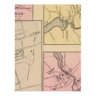 Farmington, Gorham, Yarmouth, Bridgton Map Postcard