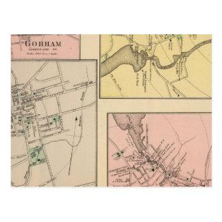 Farmington, Gorham, Yarmouth, Bridgton Postcard