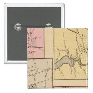 Farmington, Gorham, Yarmouth, mapa de Bridgton Pin