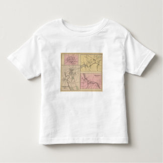 Farmington, Gorham, Yarmouth, mapa de Bridgton T-shirt