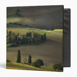 Farmland around Montepulciano, Tuscany, Italy 3 Ring Binder