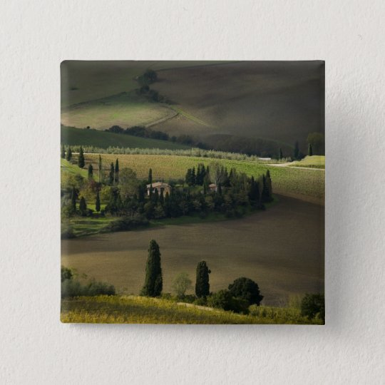 Farmland around Montepulciano, Tuscany, Italy Button