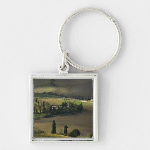 Farmland around Montepulciano, Tuscany, Italy Keychain
