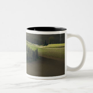 Farmland around Montepulciano, Tuscany, Italy Two-Tone Coffee Mug