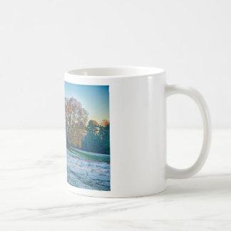 farmland early morning cold sunrise coffee mug