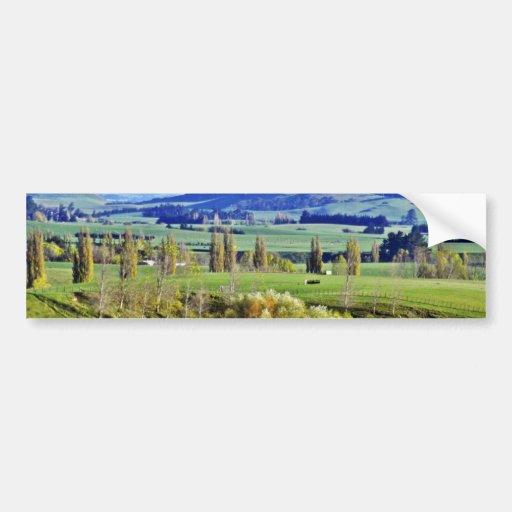 Farmland, Hastings, North Island Bumper Sticker