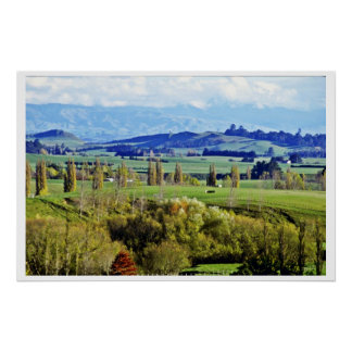 Farmland, Hastings, North Island Posters