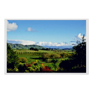 Farmland, Hastings, North Island Poster