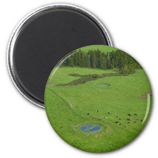 Farmland in Azores islands 2 Inch Round Magnet