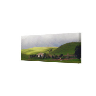 Farmland in Winter Canvas Print