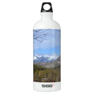 Farmland In Winter In Calabria Aluminum Water Bottle