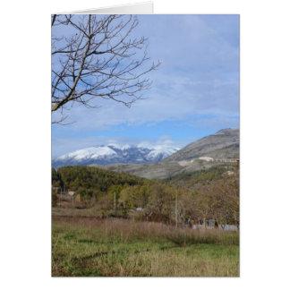 Farmland In Winter In Calabria Card