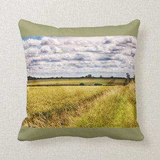 Farmland Rural Landscape HDR Pillows
