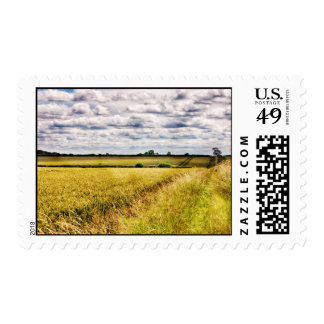 Farmland Rural Landscape HDR Postage